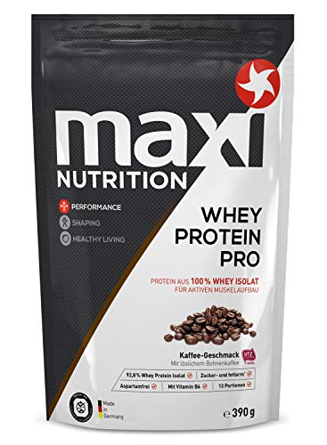 MaxiNutrition Whey Protein Isolate - Kaffee, 1 x 390 g