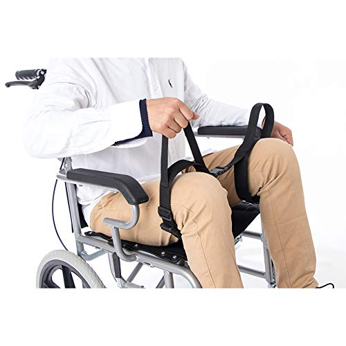Fushida Patient Thigh Lifter with 2 Hands & 2 Legs Hoops, Medical Leg Lifter Harness for Lifting, Moving, Transferring, Secure Leg Lifter Strap for Hip Replacement & Wheelchair (Black, F102)