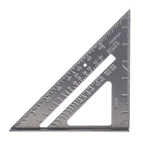 Sharplace 7'' Triangle en aluminium règle vitesse carrée outils de mesure de charpentier Équerres