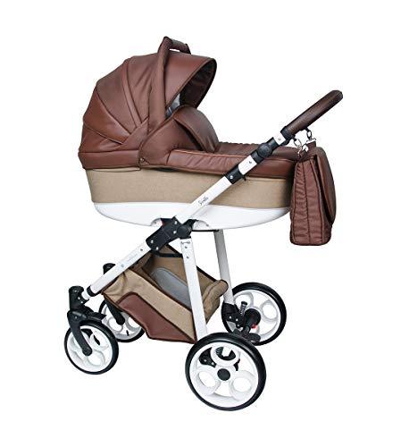 Cochecito Lux4Kids Vitoria neumático parasol buggy 3en1 Isofix Oeko-Tex 100 Brown 07 3en1 con asiento