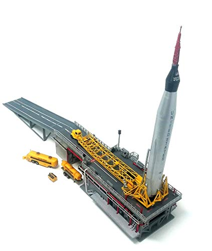 Atlas Rocket Plastic Model Kit with Launch Pad and Mercury Capsule STEM a...