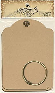 Graphic 45 9 Regular Tag Album Kraft, Marron
