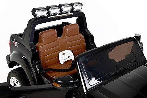 RC Auto kaufen Kinderauto Bild 3: RIRICAR Ford Ranger Wildtrak 4X4 LCD Luxury, Elektro Kinderfahrzeug, LCD-Bildschirm, schwarz - 2.4Ghz, 2 x 12V, 4 X Motor, Fernbedienung, 2-Sitze in Leder, Soft Eva Räder, Bluetooth*