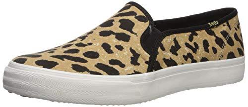 Keds Womens Double Decker Sneaker, Leopard, 9