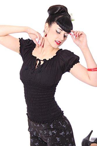 SugarShock Pin Up 40s retro Noelle Gypsy Carmen Blusenshirt Rockabilly Shirt - 6