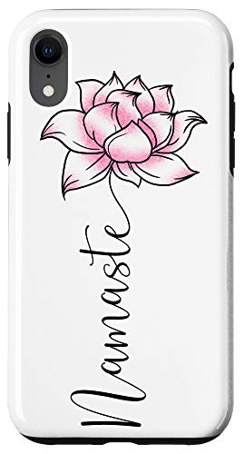 iPhone XR Namaste Lilly Lotus Pink Flower Cute Hindi Yoga Lover Gift Case