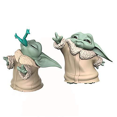Hasbro Star Wars - The Child USA la Forza e Mangia Una Rana (2 Action Figure 5.5 cm del Personaggio conosciuto Anche Come Baby Yoda, ispirate alla Serie Disney+ The Mandalorian)