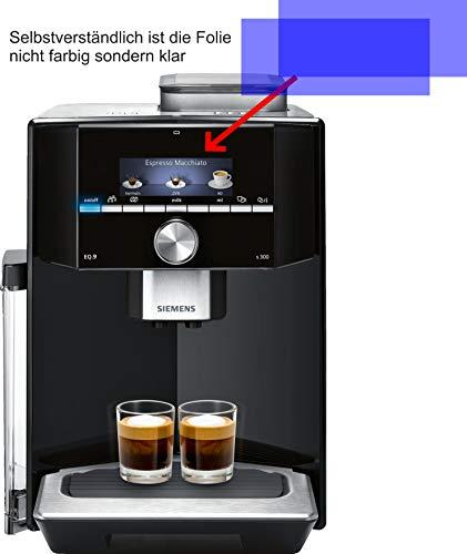 4ProTec I 2X ANTIREFLEX matt Schutzfolie für Siemens EQ.9 s300 TI913539DE Kaffeevollautomat Displayschutzfolie Bildschirmschutzfolie Schutzhülle Displayschutz Displayfolie Folie