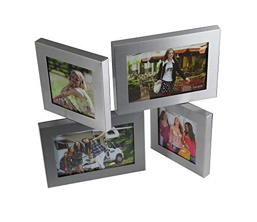 Bilderrahmen für 4 Foto Aluminium Stehend Bildergalerie Foto Galerie Fotorahmen Fotoalbum Bilder Collage