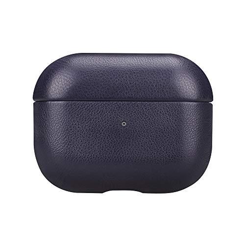 Fooyin [Handmade Series] Étui en Cuir pour AirPods Pro, Protection Coque (Cuir de litchi) Housse Compatible avec Apple AirPods Pro, Jaune