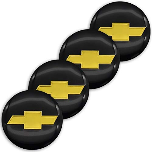 Tapas Para Llantas 56mm Cajas de ruedas de automóvil central Caps Pegatina Compatible con Chevrolet Cruze Malibu Trax Camaro Lacetti Aveo Cobalt Sail Captiva Epica Calcomanía Tapas de cubo de rueda