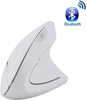 Vertical Mouse Bluetooth,Attoe Wireless Bluetooth Vertical Mouse Ergonomic with 3 Adjustable DPI 800/1200/ 1600, 6 Buttons,Compatible with PC, Desktop, Laptop, Mac (White)