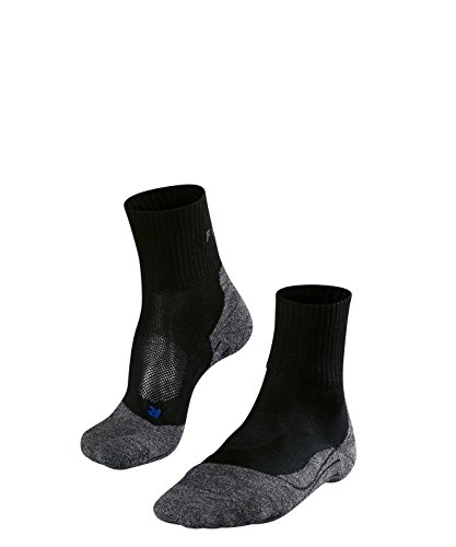 FALKE Mens TK2 Short Cool Hiking Socks - Low Cut, Anti Blister, Black (Black-Mix 3010), US 9-10 (EU 42-43 Ι UK 8-9), 1 Pair