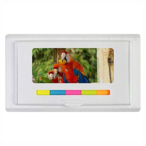 Azeeda 'Parrots Eating Fruit' Sticky Note Ruler Pad (ST00002117)