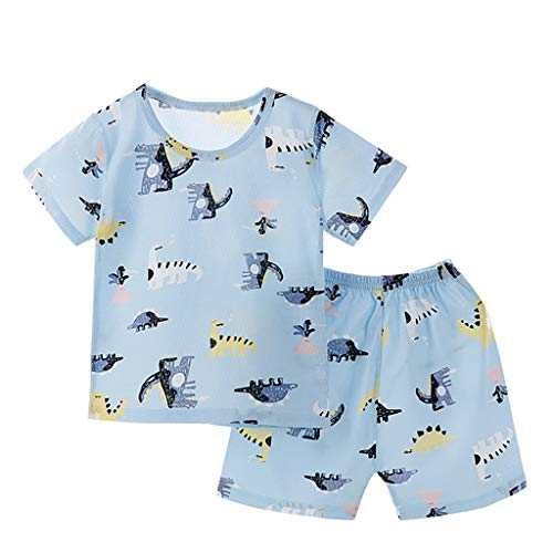LEXUPE Säugling Baby Mädchen Ärmellose Rüschen Ananas Print Rückenfreie Strampler Jumpsuit(A-Himmelblau,80)