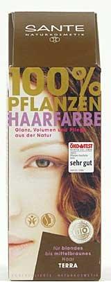 Sante BIO Haarfärbemittel terra 1 x 100 g pflanzlich schonend Haare Tönung Haarfarbe glänzende strahlend sexy mild