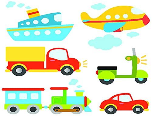 TISAGUER 5D Diamante Pintura por Número Kit,Tipos de transporte abstractos para niños pequeños Coche Barco Camión Scooter Tren Avión,Bricolaje Diamond Painting kit completo Bordado
