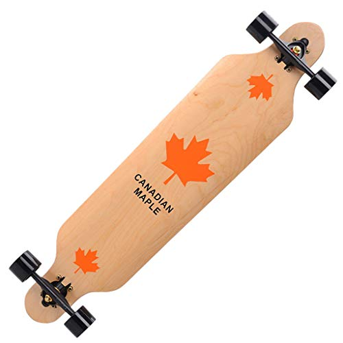 Save %35 Now! Skateboard, 41inch Longboard Skate Board Complete 104cm Road Skateboard Four-Wheel Ska...