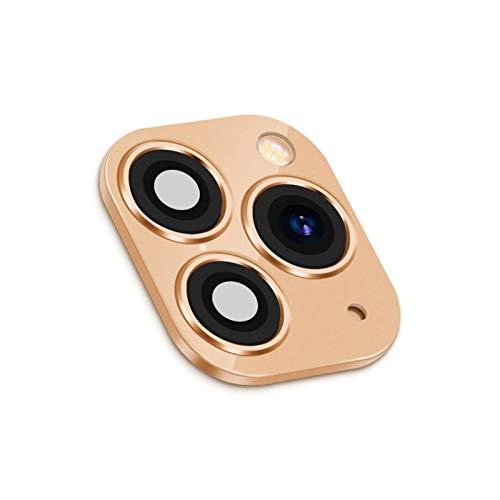 Huiyue Etiqueta engomada de la Lente de cámara Falsa para el Protector de Pantalla del teléfono móvil del iPhone para iPhone X/XS MAX cambió a iPhone 11 Pro MAX Lente (Color : Gold x)