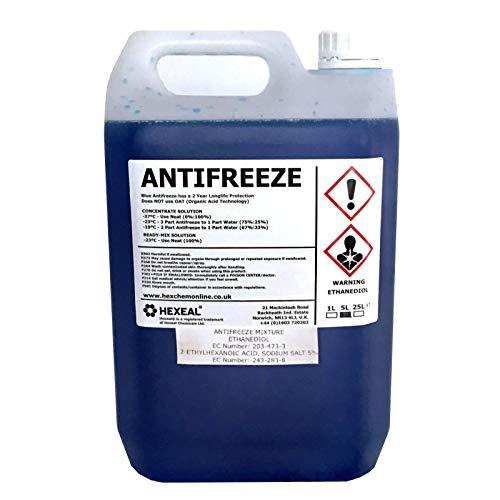 Hexeal BLUE ANTIFREEZE & COOLANT | 10 LITRE | -37 ºC | High Concentrate/Longlife | 10L