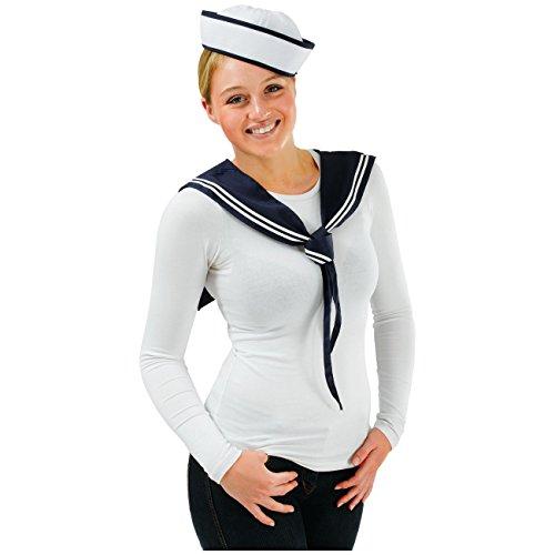 Spassprofi Set für Kostüm Matrosin, Sailor Girl Kostümset Matrose Seefahrer Matrosenset
