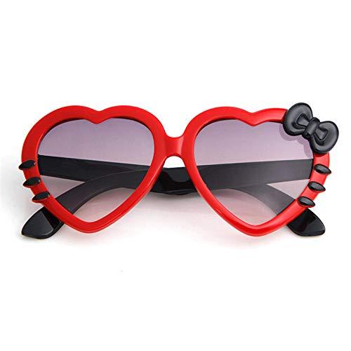 WQZYY&ASDCD Gafas de Sol Moda Lindo Corazón Bowknot Gato Gafas De Sol De Dibujos Animados Gafas De Sol Uv400 Gafas-C1Red