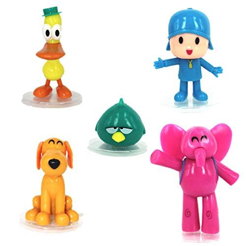 EASTVAPS - Set di 5 cartoni Pocoyo Zinkia Bambola in PVC, personaggi bambini, giocattolo regalo di compleanno