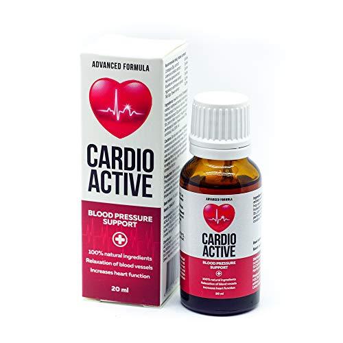 Cardio Active son gotas naturales para la regulación de la presión sanguínea y la salud cardiovascular.