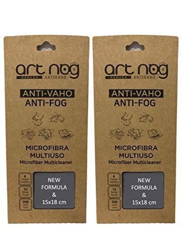 ART-NOG Set mit 2 Mikrofaser Antibeschlag 15x18cm, Anti Beschlag Schutz, Brillenputztuch Antibeschlag, 15x18cm