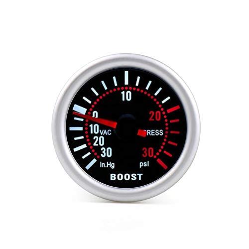 """no-branded Kraftstoffanzeige 2"""" 52mm Smoke Objektiv Ladedruckanzeige Bar Psi Vakuum-Wassertemperatur Öltemperatur Ölpresse Voltmeter Kraftstoffstand Tachometer CGFEUR"""