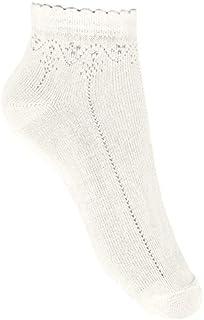 Calcetines tobilleros con calado Beige, Talla 8 (32-35)