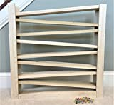 """BiGe Deluxe, Authentic Wood Double Marble Run. Excessively Designed, Amish Built. About 25"""" x 25"""", 8 Levels of Twin Tracks – Taller, Longer, More Tracks, More Fun. 30 Free Marbles."""