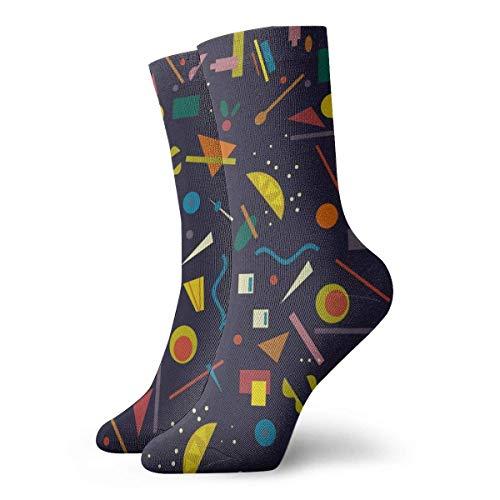 Kevin-Shop Bauhaus Cocktail Adult Short Socks Nette Socken für Herren Damen Yoga Wandern Radfahren Laufen Fußball Sport