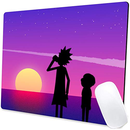 Gaming Mouse Pad,Anime Rick Meteor Mouse Pad Non-Slip Rubber Base Mouse Pads for Computers Laptop Office,9.5'x7.9'x0.12' Inch(240mm x 200mm x 3mm)