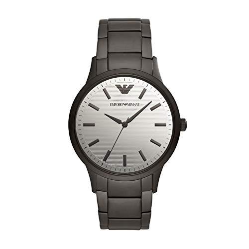 Emporio Armani Herren Analog Quarz Uhr mit Edelstahl Armband AR11259
