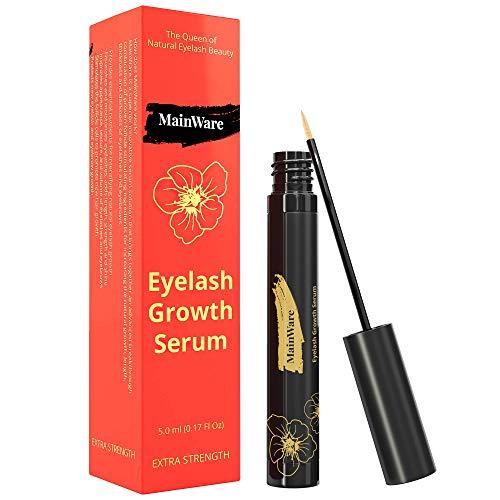 MainWare Eyelash Growth Serum and Eyebrow Enhancer - After Using Eyelash Serum You Will get Healthy Long and Thick Eyelashes - Lash Boost Serum for Longer 5 ml
