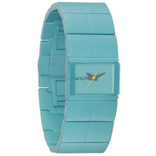 Nixon A190272-00 - Reloj analógico de Cuarzo para Mujer con Correa de Acero Inoxidable, Color Azul