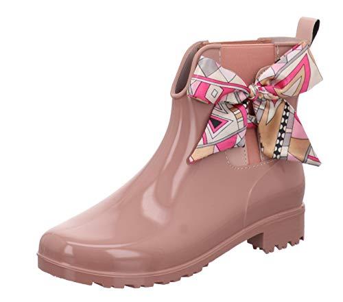 TOM TAILOR für Frauen Schuhe Kurze Gummistiefel mit Schleife Rose, 40