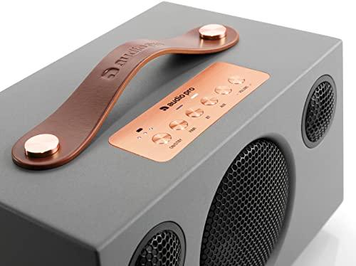 Altavoz Bluetooth Inalámbrico Portátil Multiroom Potente - Speaker Hi-Fi con Conexión Wi-Fi, W-LAN, Apple Air Play, Spotify Connect - Batería hasta 30h - Audio Pro Addon T3+ - Gris