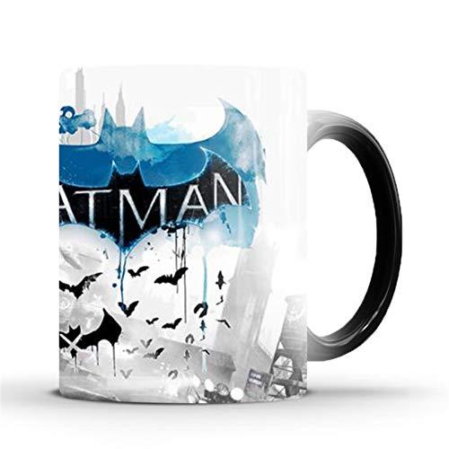 TYYW Tasses, Batman Dark Knight Tasse Change Couleur Couleur Tasse à café Tasse Tasse Thermique Transformer Un Cadeau de Tasse Magique pour Vos Amis ou Enfants