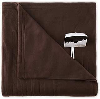 Biddeford 1000-9052106-711 Comfort Knit Fleece Electric Heated Blanket Twin Chocolate