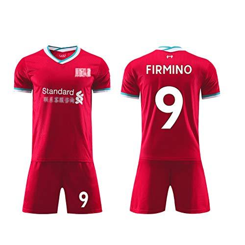 Fußballuniform, M Salah Mähne Virgil Firmino Keita A Becker, Sommer für Erwachsene Kinder, Heim Liverpool 2020-2021, Uniform Sport Kit, echtes Trikot-FIRMINO-26
