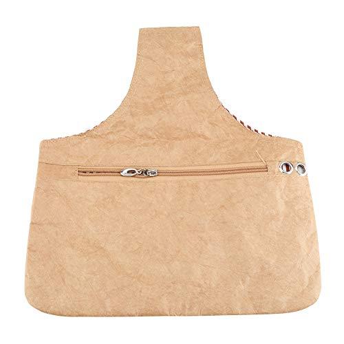 La bolsa de tejer impermeable de material biodegradable de mano mantiene el hilo y el tejido...
