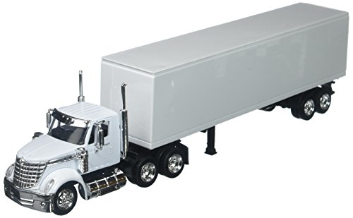 New-Ray 1:43 Long Haul Trucker - International Lonestar (Plain White)