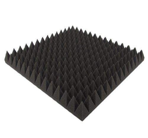 Akustikpur - ca. 50 cm x 50 cm x 7 cm - Akustikschaumstoff,Pyramiden Akustik Schaumstoff,Akustik Dämmung