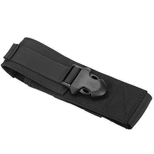 Pwshymi Bolsa de cinturón Molle táctica Militar al Aire Libre portátil Bolsa de Almacenamiento de Linterna para Deportes Senderismo Camping Viajes(Negro)