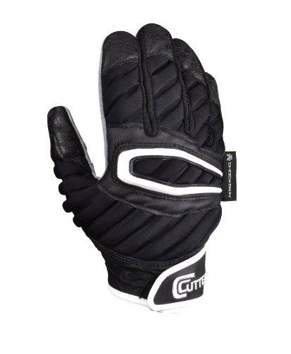 Cutters Gloves Adult The ShockSkin Lineman Glove, Black, Medium