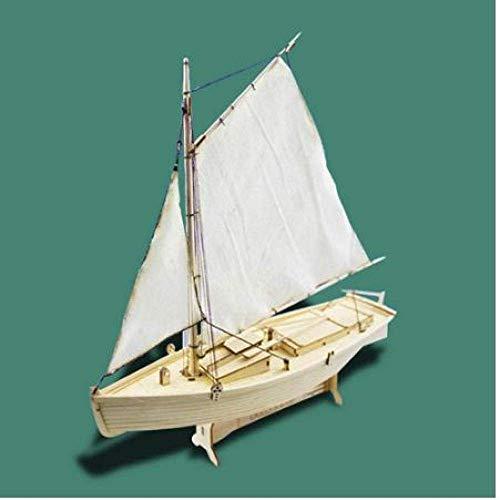 Zixin Wohnzimmer Dekorationen Chem Segelboot Modell DIY 1:30 Holz Montiert Segelboot Modellierung Spielzeug Tischplatte Tischdekoration Kinder Geschenk