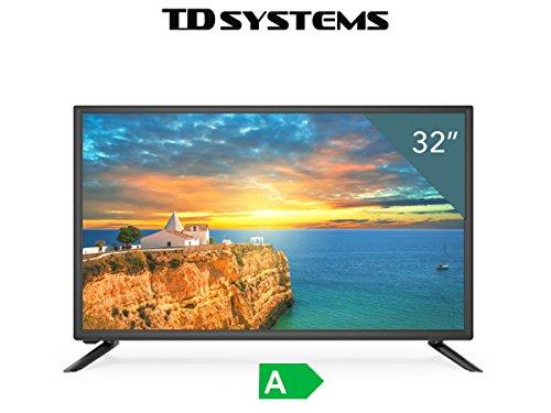 TV HD TDSystems 32' Pulgadas HD K32DLS6H (Resolución 1366x768/VGA 1/HDMI 2/EUR 1/USB Reproductor y Grabador) Televisor HD
