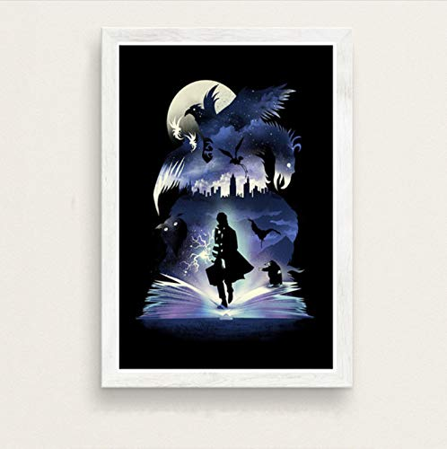 zpbzambm Frameless Wall Painting 40X50Cm - Fantastic Beasts Lord Of The Rings Alice In Wonderland Art Film Silk Painting Canvas Wall Poster Home Decor Zp-1768